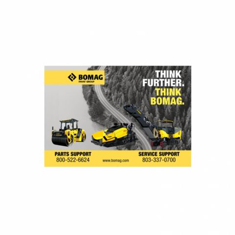 Counter Mat for BOMAG Heavy Equipment Dealers
