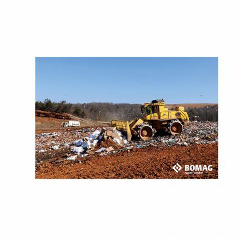 "BC 672 Landfill Compactor 24"" x 36"" Rigid Poster"
