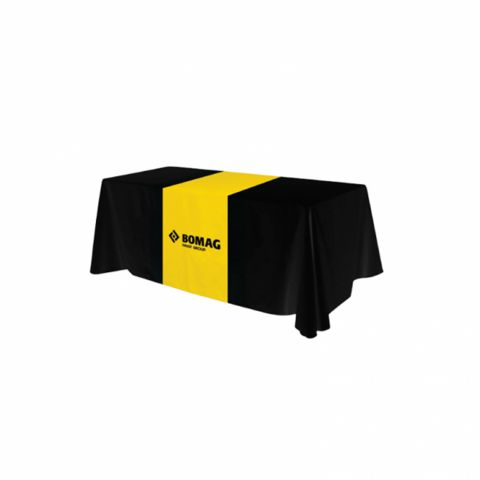 6' Black Table Cloth with Runner